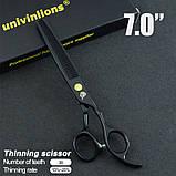 """7"""" дюймов комплект 3 шт. профессиональных ножниц  для стрижки домашних животных для груминга Univinlions, фото 3"""
