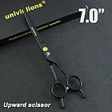 """7"""" дюймов комплект 3 шт. профессиональных ножниц  для стрижки домашних животных для груминга Univinlions, фото 4"""