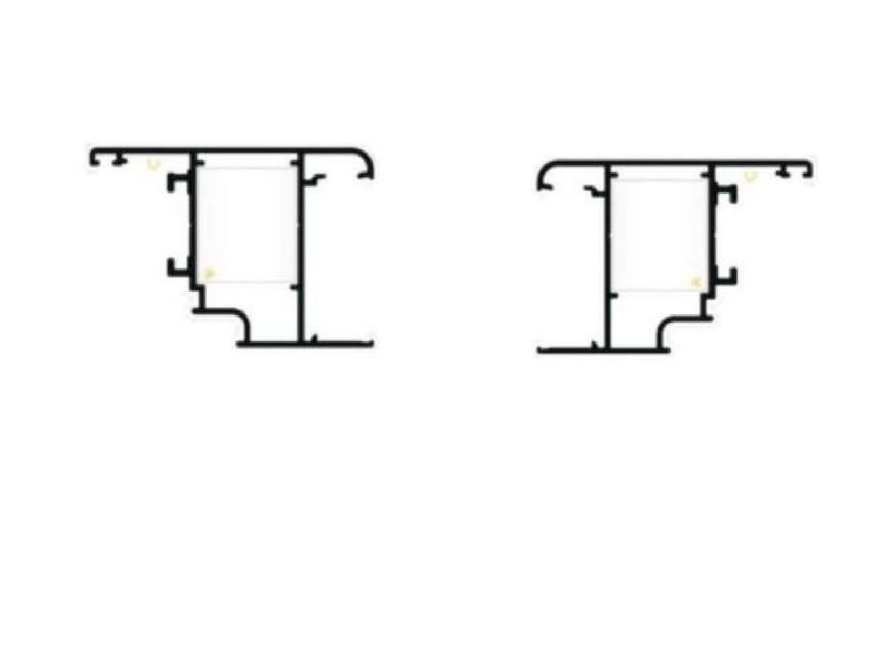 Профиль створки для алюминиевых ставней,пара правый и левый. м -