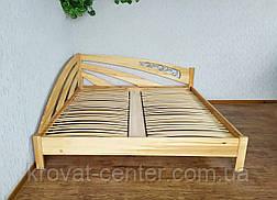 """Большая двуспальная кровать из массива дерева """"Радуга"""" угловая, фото 3"""