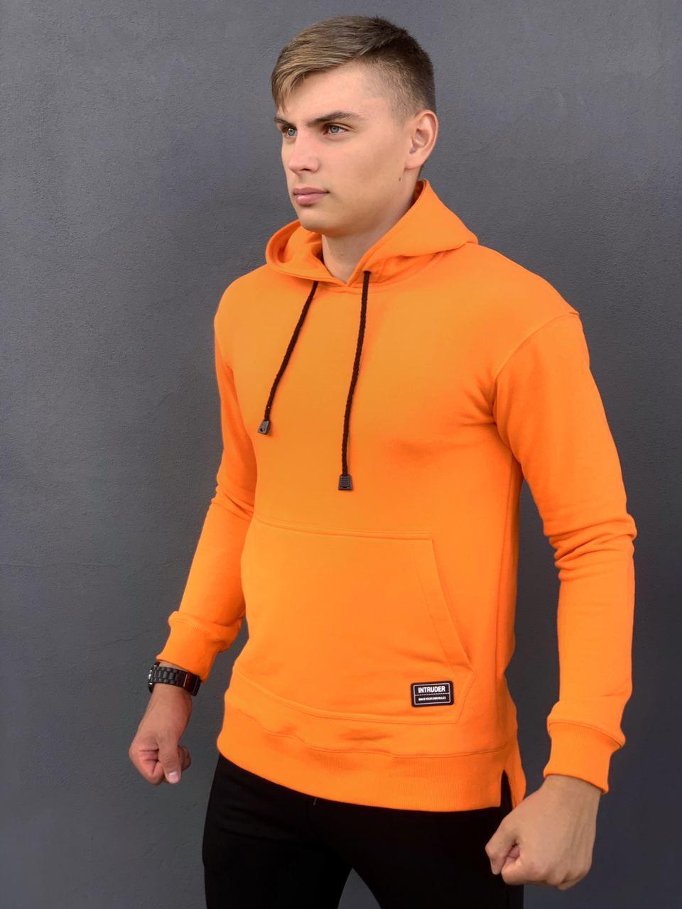 Худи Мужское Intruder Spark спортивная кофта трикотаж оранжевое Intruder