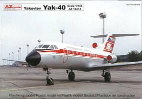 Яковлев Як-40. Сборная модель пассажирского самолета в масштабе 1/144. AZ-MODELS 14440