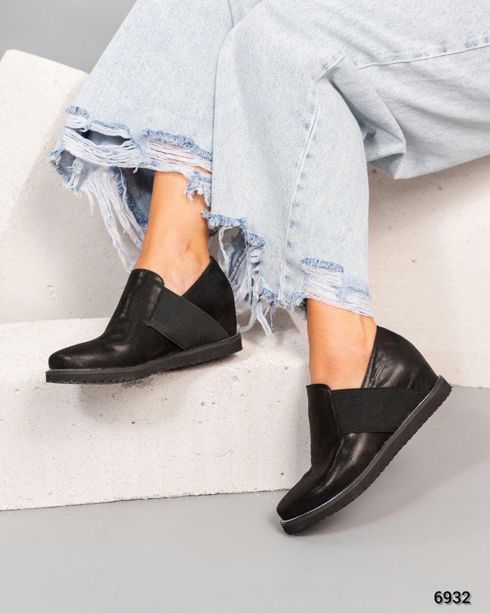 Туфли на танкетке Натуральная кожа/сатин