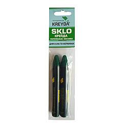 Для Стекла, мел восковой разметочный SKLO (зеленые) - 2шт