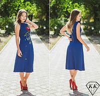 """Платье с аппликацией """"Роза"""" 3 цвета"""