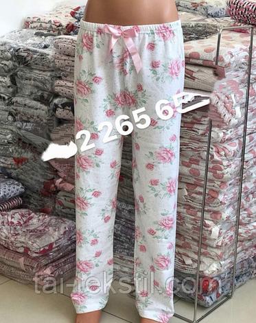 Женские домашние байковые брюки (хлопок 100% с начесом) Турция М-3XL (46-54р), фото 2