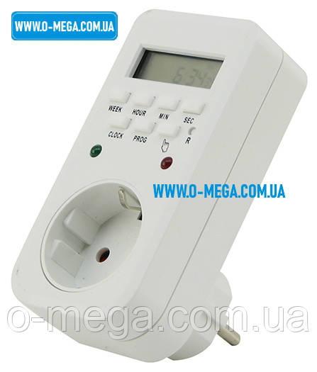 Таймер цифровой Lemanso LM6346 (LM680) недельный 8 программ 16A