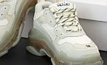 Женские кроссовки Balenciaga Triple S Clear Sole «Beige» многослойная подошва. Живое фото. Реплика, фото 6