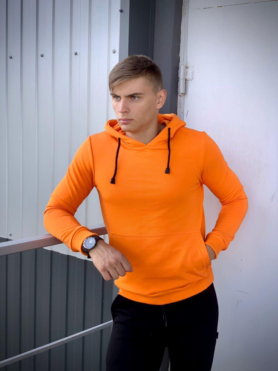 Худи Мужское Intruder Bars спортивная кофта трикотаж оранжевое