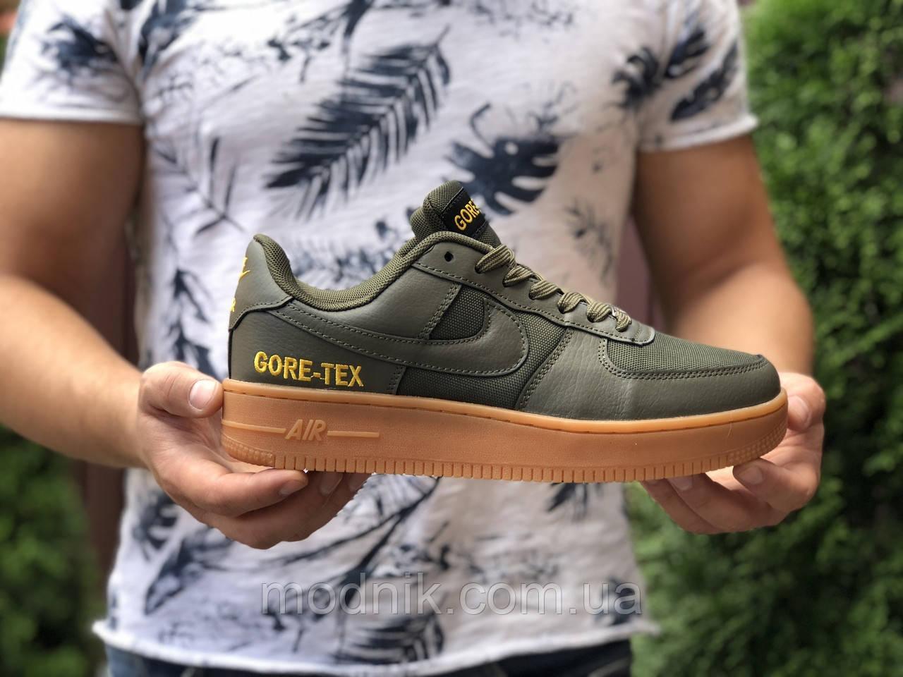 Мужские кроссовки Nike Air Force Gore-Tex (темно-зеленые) 9785