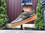 Мужские кроссовки Nike Air Force Gore-Tex (темно-зеленые) 9785, фото 2
