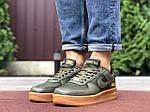 Мужские кроссовки Nike Air Force Gore-Tex (темно-зеленые) 9785, фото 4
