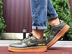 Мужские кроссовки Nike Air Force Gore-Tex (темно-зеленые) 9785, фото 5
