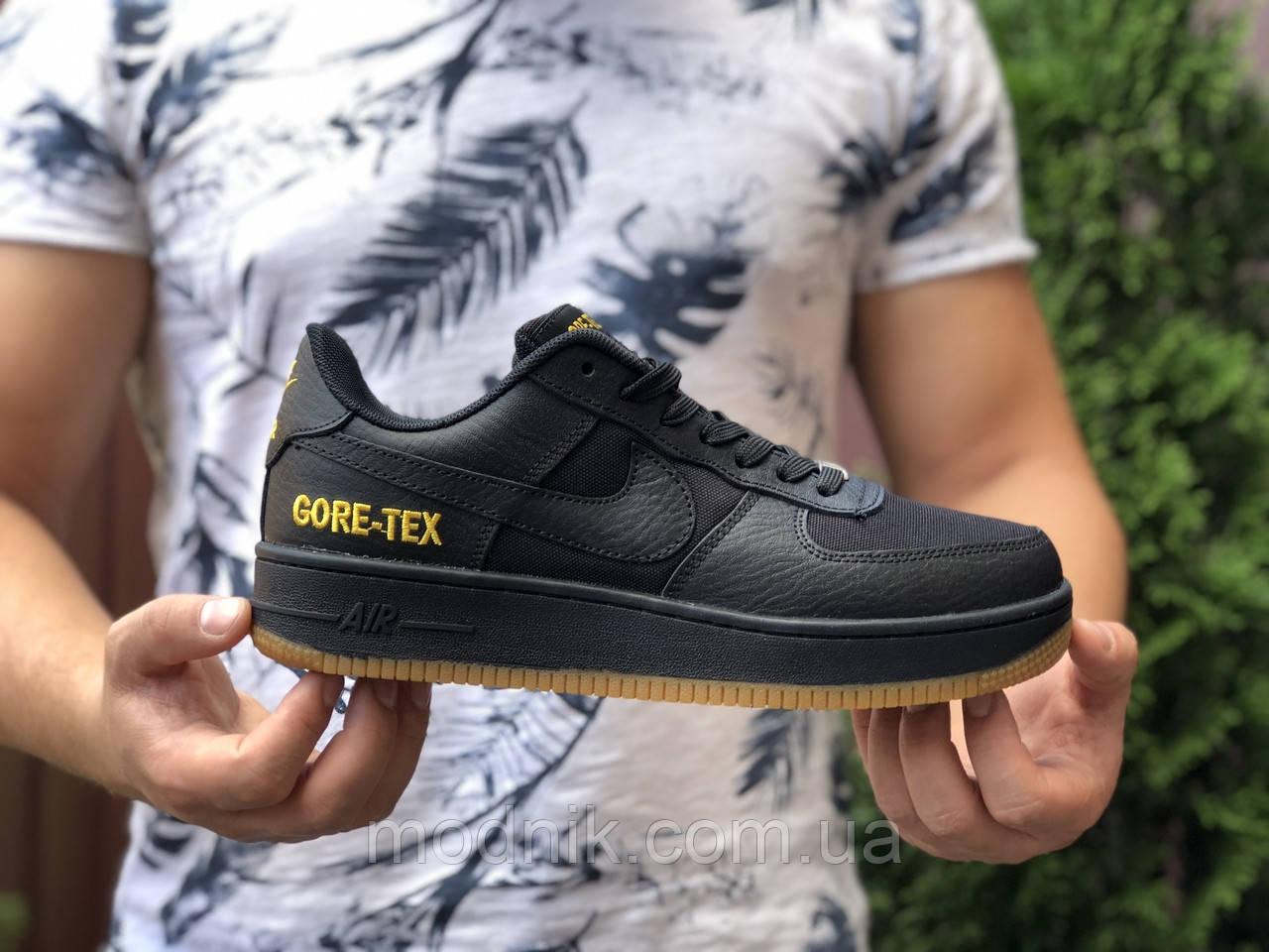 Мужские кроссовки Nike Air Force Gore-Tex (черные) 9787