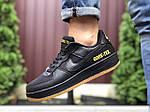 Мужские кроссовки Nike Air Force Gore-Tex (черные) 9787, фото 3