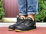 Мужские кроссовки Nike Air Force Gore-Tex (черные) 9787, фото 4