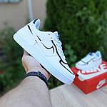 Женские кроссовки Nike Air Force 1 Shadow (бело-черные) 20205, фото 3