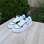 Женские кроссовки Nike Air Force 1 Shadow (бело-черные) 20205, фото 5