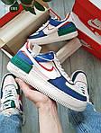 Женские кроссовки Nike Air Force 1 low (сине-розовые) KS 1501, фото 3