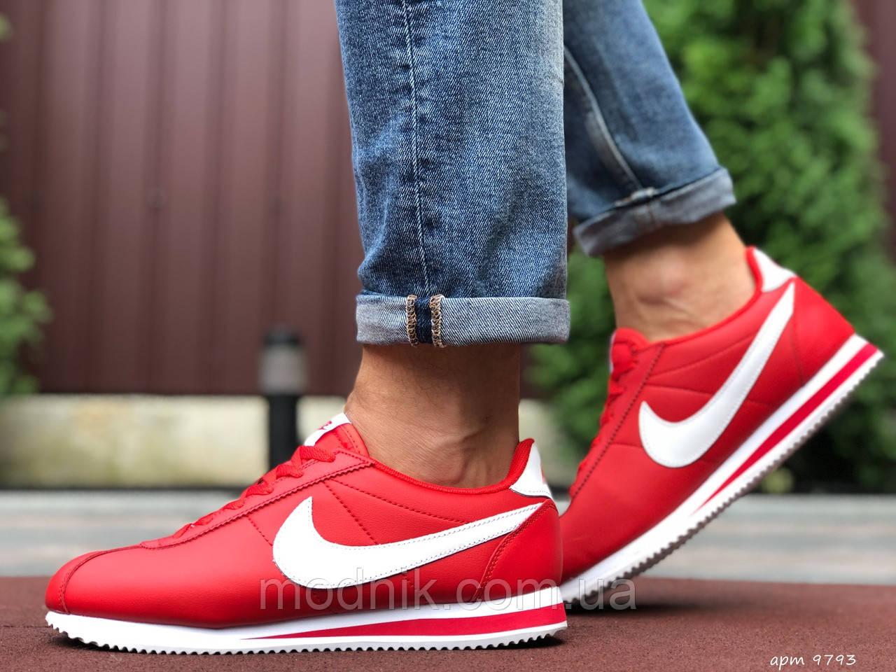 Мужские кроссовки Nike Cortez (красно-белые) 9793