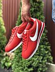 Мужские кроссовки Nike Cortez (красно-белые) 9793, фото 2