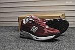 Мужские кроссовки New Balance 991 (бордовые) KS 1357, фото 3