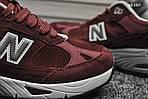Мужские кроссовки New Balance 991 (бордовые) KS 1357, фото 4
