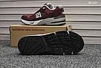 Мужские кроссовки New Balance 991 (бордовые) KS 1357, фото 5