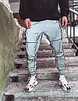 Мужские спортивные штаны Рефлективные (серые) U18, фото 6