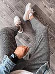 Мужские зауженные спортивные штаны (серо-черные) U5, фото 3