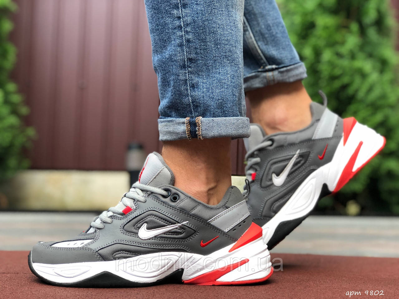 Мужские кроссовки Nike М2K Tekno (серые) 9802
