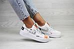 Женские кроссовки Nike Air Force 1 Just Do It (белые) 9817, фото 2