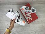 Женские кроссовки Nike Air Force 1 Just Do It (белые) 9817, фото 3