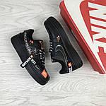 Женские кроссовки Nike Air Force 1 Just Do It (черные) 9820, фото 3