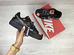 Женские кроссовки Nike Air Force 1 Just Do It (черные) 9820, фото 4