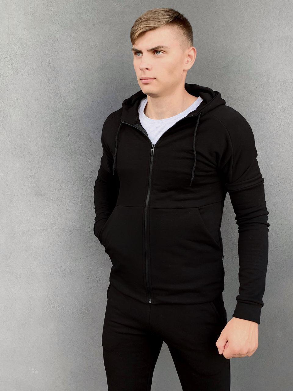 Кофта Мужская Intruder Cosmo спортивная толстовка с капюшоном черная