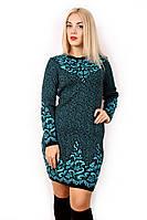 Вязаное платье большого размера 4730 р 48-54