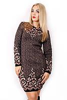 Вязаное платье с узором 4730 р 48-58, фото 1