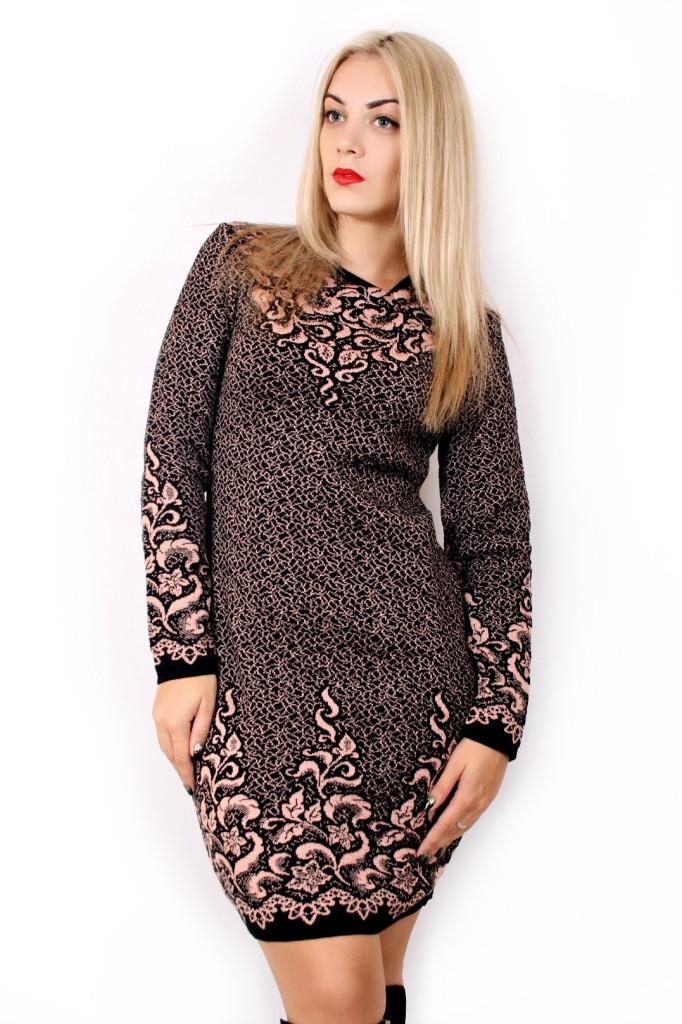 Вязаное платье большого размера купить