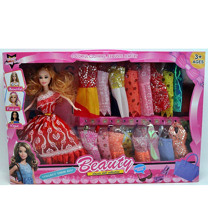 "Кукла типа ""Барби"" SFD113A5   28 см, микс видов, платья 18 шт, в коробке 48*32.5*6см"