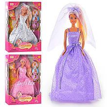 """Кукла DEFA """"Невеста"""" 6003  30 см, 3 вида, с аксесс., меняет цвет волос, в коробке 33*22*6см"""