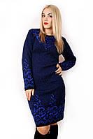 Вязаное платье с узором 4730 р 48-54