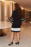 Женское нарядное платье Колокольчик крепдайвинг размер: 48-50, 52-54, 56-58, 60-62, фото 3