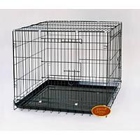 Клетка для собак и щенков с двумя дверьми 76*53*60 см