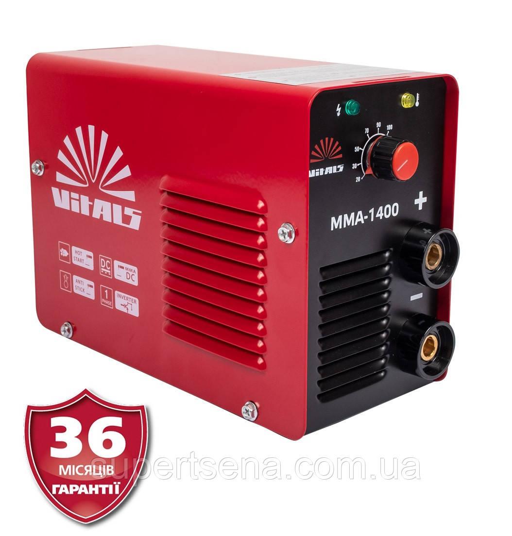 Зварювальний інвертор MMA-1400 +БЕЗКОШТОВНА ДОСТАВКА! 140 А; 1,6-4,0 мм; 4,95 кВт (VITALS, Латвія)