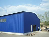 Изготовление и монтаж зданий и сооружений ангарного типа