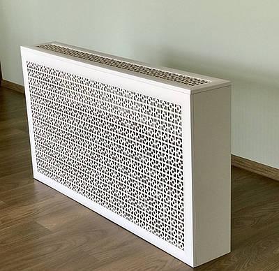 Короб на батарею Decorpaneli 60х120х17 см Белый