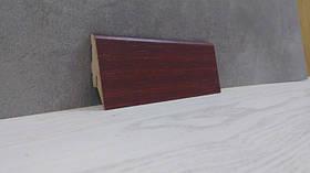 Плинтус напольный МДФ под дерево Махонь 19*52*2800мм., красно-коричневый
