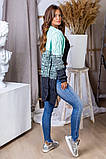 Жіночий стильний в'язаний кардиган акрил+шерсть розмір універсал 42-46, фото 2