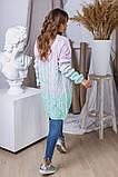 Жіночий стильний в'язаний кардиган акрил+шерсть розмір універсал 42-46, фото 3